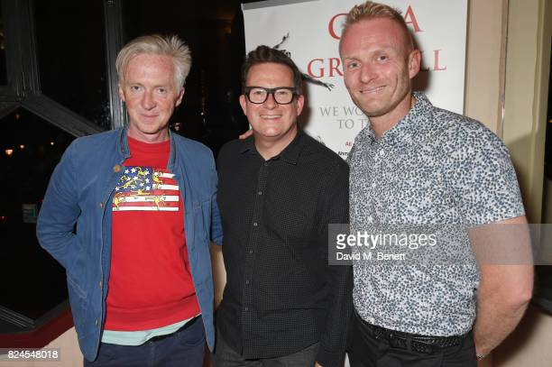 Philip Treacy Sir Matthew Bourne and Matt Cain attend a drinks reception celebrating 'Gala For Grenfell' a special gala bringing together a host of...