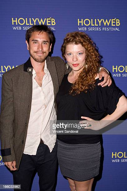 Philip Whiteman and Dijanne Cornell attend the 2nd annual HollyWeb Festival at Avalon on April 7 2013 in Hollywood California