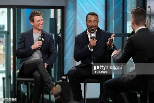 Philip Winchester and Carl Weathers attend the Build Series to discuss 'Chicago Justice' at Build Studio on March 3 2017 in New York City