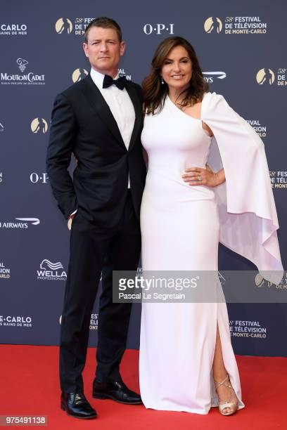 Philip Winchester and Mariska Hargitay attend the opening ceremony of the 58th Monte Carlo TV Festival on June 15 2018 in MonteCarlo Monaco