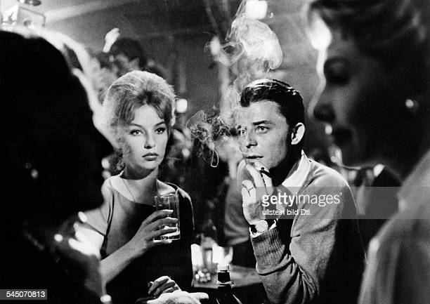 Philipe GÚrard Actor France * Scene from the movie 'Les liaisons dangereuses'' with Annette Vadim Directed by Roger Vadim France / Italy 1959 Vintage...