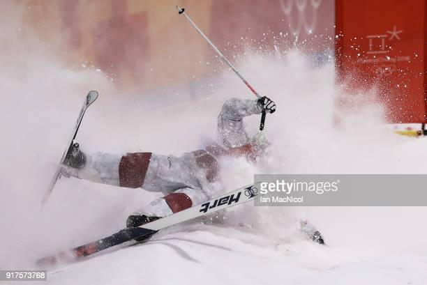 Philipe Marquis of Canada competes in the Men's Moguls at Phoenix Snow Park on February 12 2018 in Pyeongchanggun South Korea
