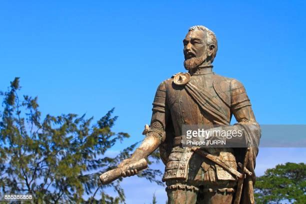 Philipinas, Cebu City. Cebu Island. Statue of Miguel Lopez de Legazpi - Fort San Pedro