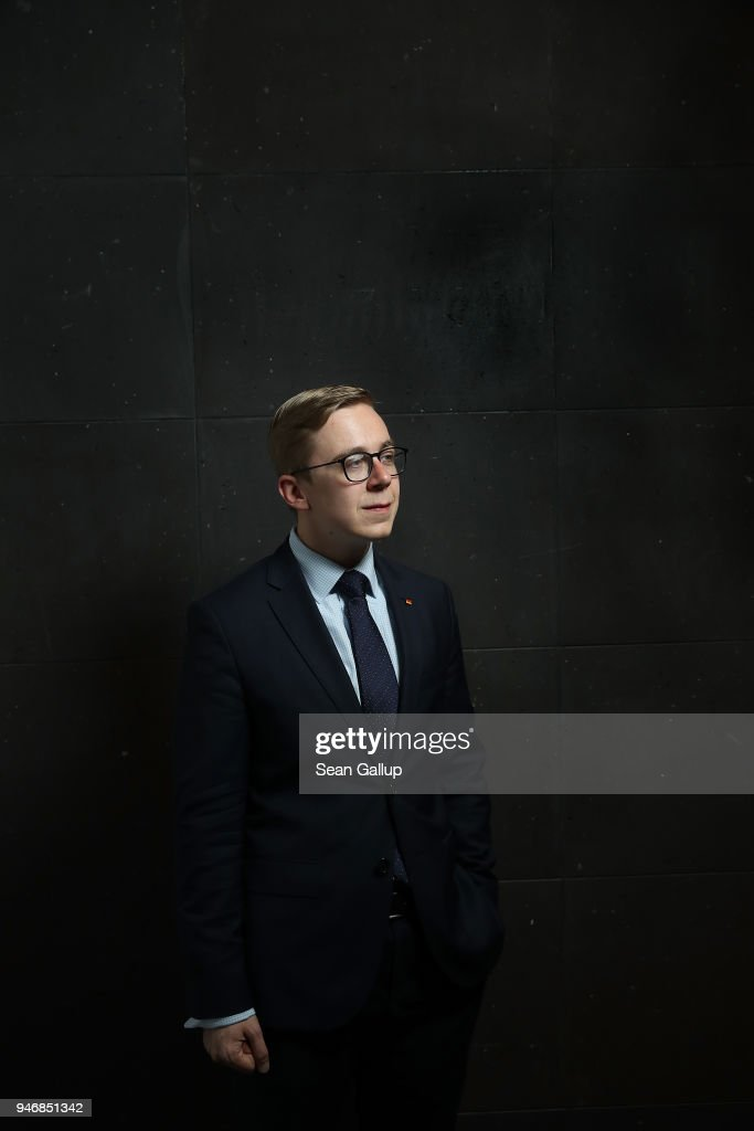 Philipp Amthor, a politician of the German Christian Democrats (CDU) in the Bundestag, poses for a photo before speaking to the Foreign Journalists' Association on April 16, 2018 in Berlin, Germany. Amthor, at 25 the second-youngest Bundestag member, has been dubbed the CDU's 'secret weapon' at countering the right-wing Alternative for Germany (AfD) through his conservative values one the one hand and his willingness to engage the AfD rhetorically in what he describes as the flimsiness of the party's political content.