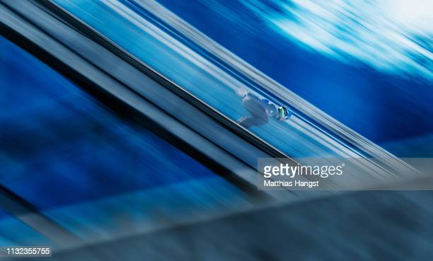 Philipp Aschenwald of Austria competes during the training round of the HS109 men's ski jumping Competition of the FIS Nordic World Ski Championships...