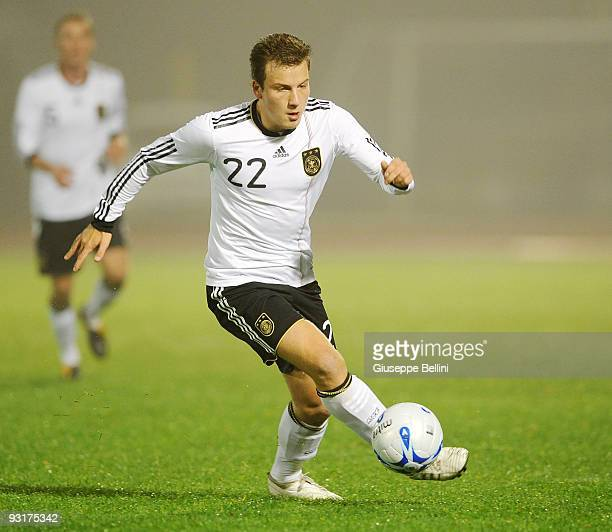 Philipp Bargfrede of Germany in action during the UEFA Under 21 Championship match between San Marino and Germany at Olimpico stadium on November 17,...