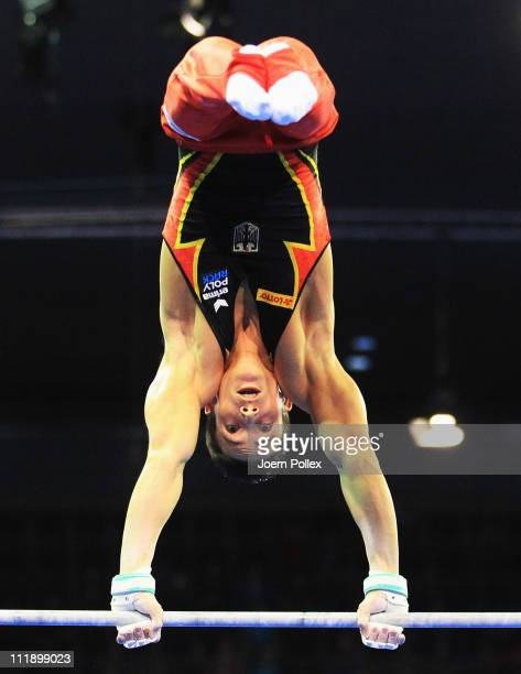 Philipp Boy of Germany performs on the High Bar during during the European Championships Artistic Gymnastics Men's All-Around Final at Max-Schmeling...