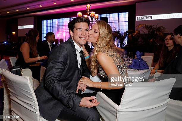 Philipp Danne and his girlfriend Viktoria Schuessler attend the charity event dolphin aid gala 'Dolphin's Night' at InterContinental Hotel on...