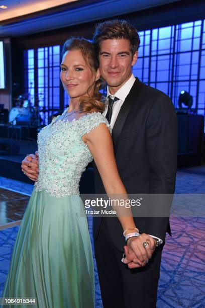 Philipp Danne and his wife Viktoria Schuessler during the Dolphin's Night at InterContinental Hotel on November 24 2018 in Duesseldorf Germany
