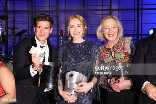 Philipp Danne Elna Margret Zu Bentheim and Ursula zu Hohenlohe attend the charity event Dolphin's Night at InterContinental Hotel on November 25 2017...