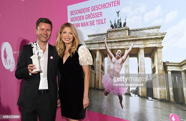 Philipp Friedel and Ursula Karven attend the 'CLOSER Magazin Hosts SMILE Award 2014' at Hotel Vier Jahreszeiten on November 4 2014 in Munich Germany