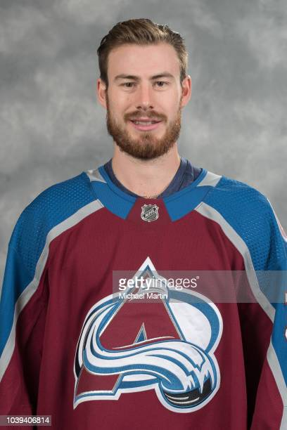 Philipp Grubauer of the Colorado Avalanche poses for his official headshot for the 20182019 NHL season on September 13 2018 at the Pepsi Center in...