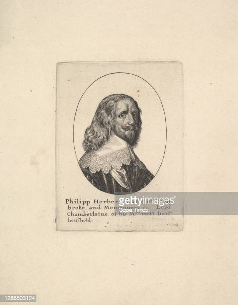 Philipp Herbert, Earl of Pembroke, 1625–77, Etching, fourt state of four, Plate: 3 7/8 × 2 15/16 in. , Prints, Wenceslaus Hollar , Portrait bust to...