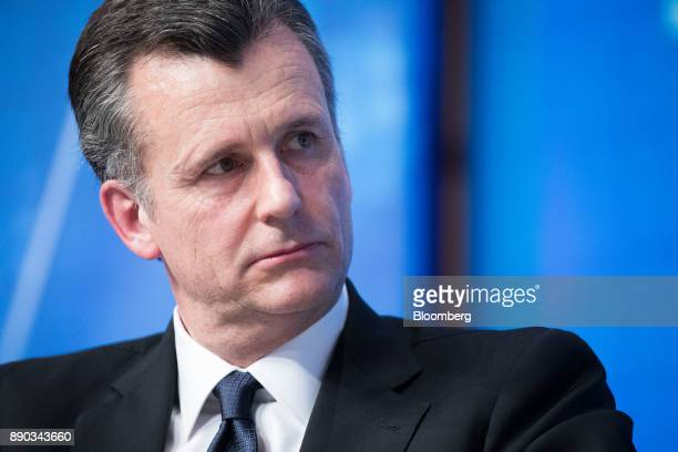 Philipp Hildebrand vice chairman of Blackrock Inc listens during Climate Finance Day at the French Economy Ministry in Paris France on Monday Dec 11...