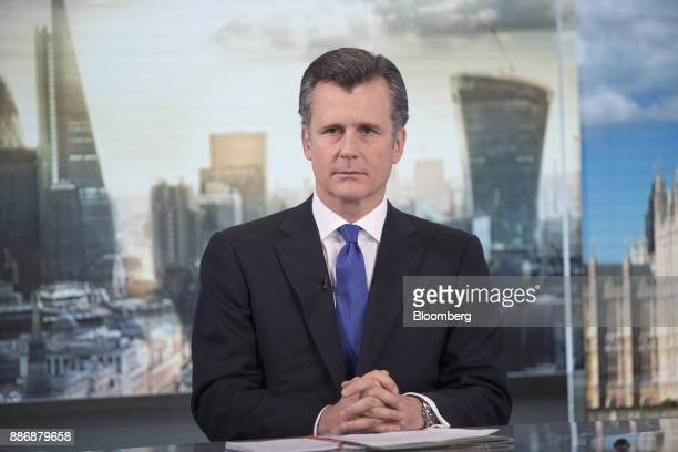 Philipp Hildebrand vice chairman of Blackrock Inc pauses during a Bloomberg Television interview in London UK on Wednesday Dec 6 2017 Hildebrand...