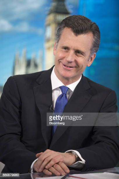 Philipp Hildebrand vice chairman of Blackrock Inc reacts during a Bloomberg Television interview in London UK on Wednesday Dec 6 2017 Hildebrand...