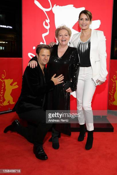 "Philipp Hochmair, Brigitte Kren and Anja Kling attend the Netflix premiere of ""Freud"" during the 70th Berlinale International Film Festival Berlin at..."