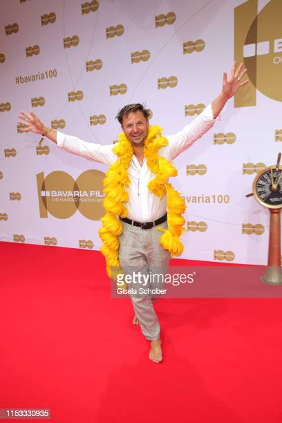 """Philipp Hochmair during the Bavaria Film Reception """"One Hundred Years in Motion"""" on the occasion of the 100th anniversary of the Bavaria Film Studios..."""