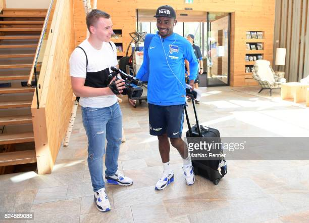 Philipp Hoeppner and Salomon Kalou of Hertha BSC during the training camp on august 31 2017 in Schladming Austria