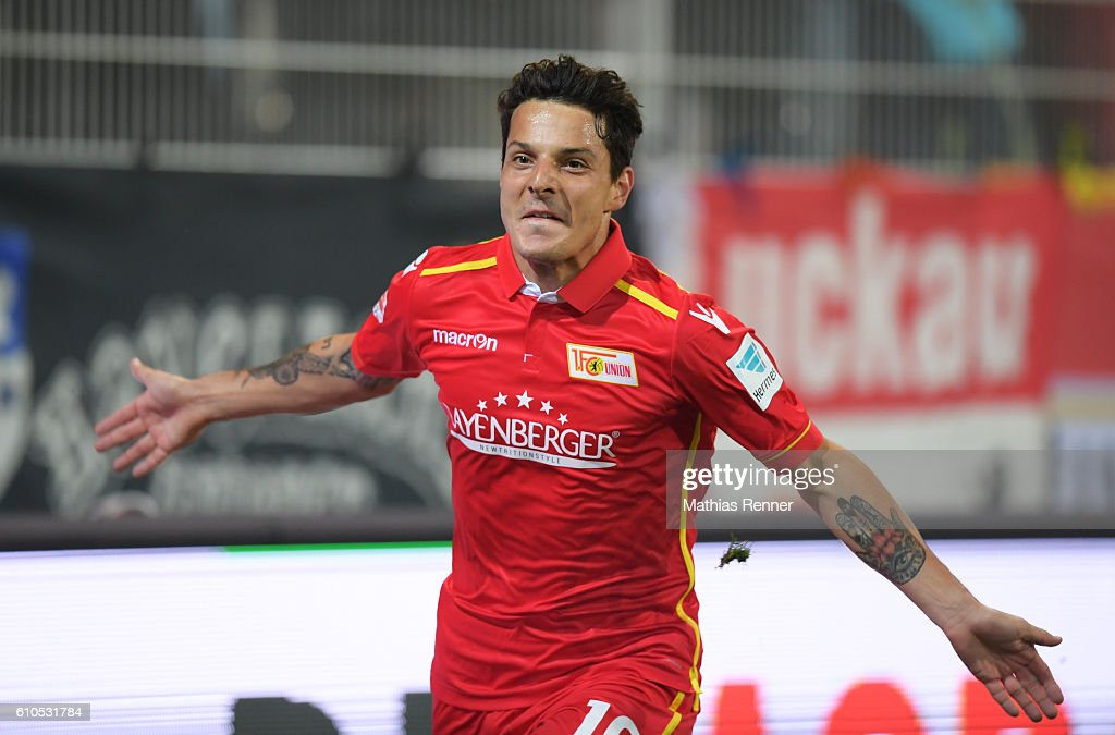 Philipp Hosiner Of Fc Union Berlin Celebrates After Scoring The During The