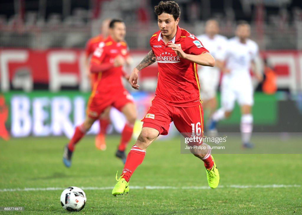 Philipp Hosiner of 1 FC Union Berlinwaehrend the game between 1 FC Union Berlin and 1 FC Nuernberg on March 20, 2017 in Berlin, Germany.