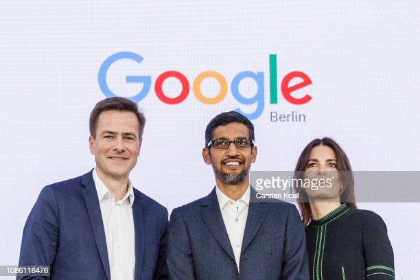 Philipp Justus Vice President Google Central Europe Sundar Pichai CEO of Google and Senior Director Public Policy and Government Relations Annette...