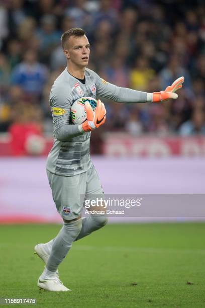 Philipp Koehn of FC Red Bull Salzburg during the preseason friendly match between RB Salzburg and FC Chelsea at Red Bull Arena on July 31 2019 in...