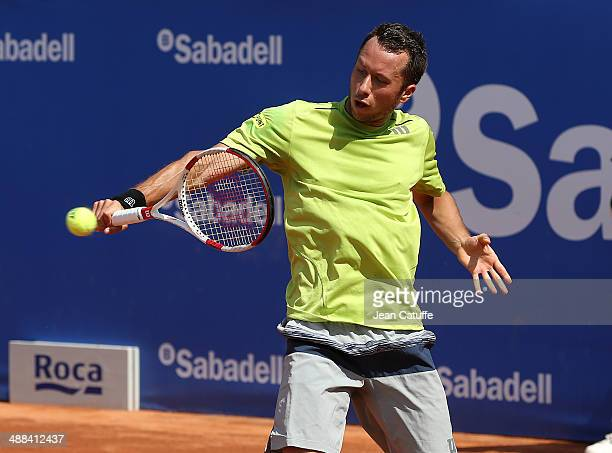 Philipp Kohlschreiber of Germany in action against Jurgen Melzer of Austria during day four of the ATP Tour Open Banc Sabadell Barcelona 2014 62nd...