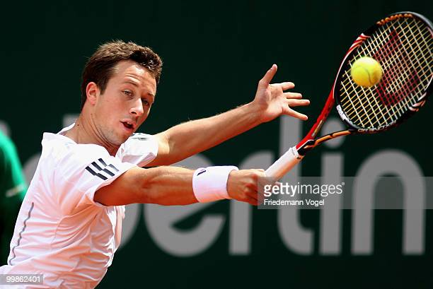 Philipp Kohlschreiber of Germany in action during his match against Horacio Zeballos of Argentina during day three of the ARAG World Team Cup at the...