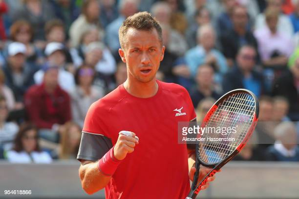 Philipp Kohlschreiber of Germany reacts during his Quaterfinal match against Roberto Bautista Agut of Spaain on day 7 of the BMW Open by FWU at MTTC...