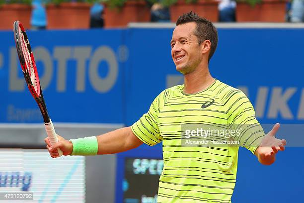 Philipp Kohlschreiber of Germany reacts during the finale match between Andy Murray of Great Britain and Philipp Kohlschreiber of Germany of the BMW...
