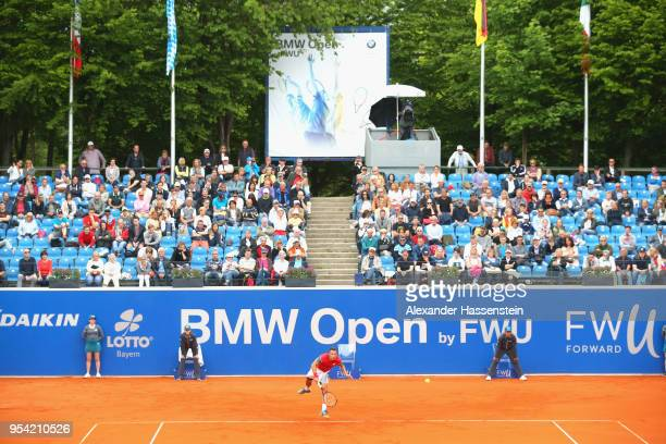 Philipp Kohlschreiber of Germany serves during his 2nd round match against Mischa Zverev on day 6 of the BMW Open by FWU at MTTC IPHITOS on May 3...