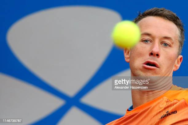 Philipp Kohlschreiber of Germany watches the ball during his quater final match against Matteo Berrettini of Italy on day 7 of the BMW Open at MTTC...