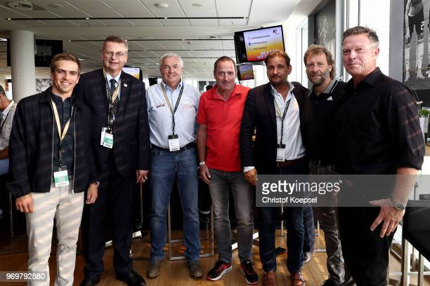 Philipp Lahm amabassador of United for Football application for Euro 2024 Reinhard Grindel DFB president Hannes Bongartz Uwe Bein Thomas Kroth...