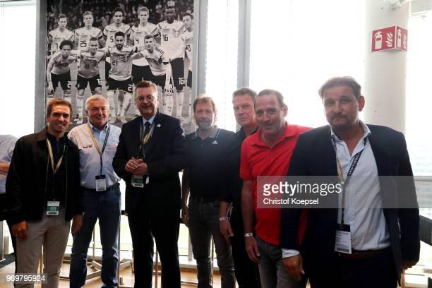 Philipp Lahm amabassador of 'United for Football' application for Euro 2024 Hannes Bongartz Reinhard Grindel DFB president Wolfgang Rolff Knut...