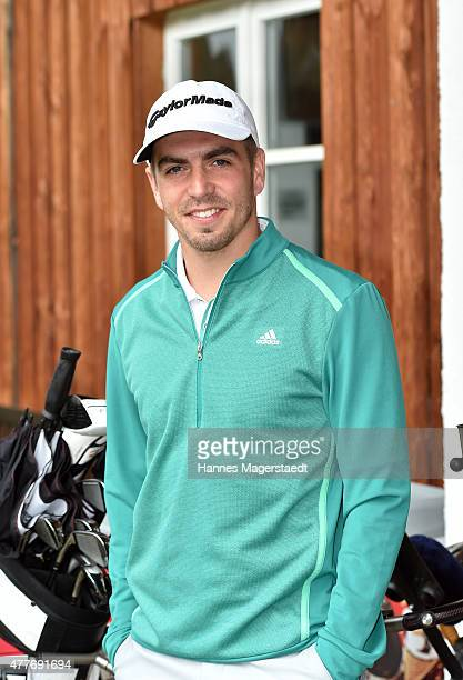 Philipp Lahm attends the Young Wings Charity Golf Cup 2015 at Golfclub Munchen Riedhof eV on June 19 2015 in Munich Germany