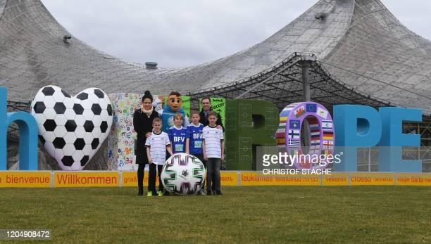 Philipp Lahm Germany's former national football player and UEFA Euro 2020 ambassador and Celia Sasic Germany's former national football player and...