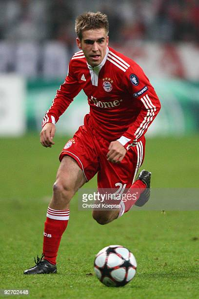 Philipp Lahm of Bayern runs with the ball during the UEFA Champions League Group A match between FC Bayern Muenchen and Bordeaux at the Allianz Arena...