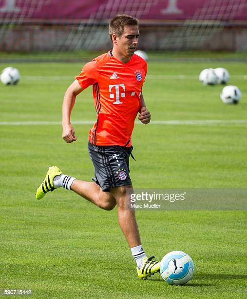 Philipp Lahm of FC Bayern Munich is seen during an training session on August 17 2016 in Munich Germany