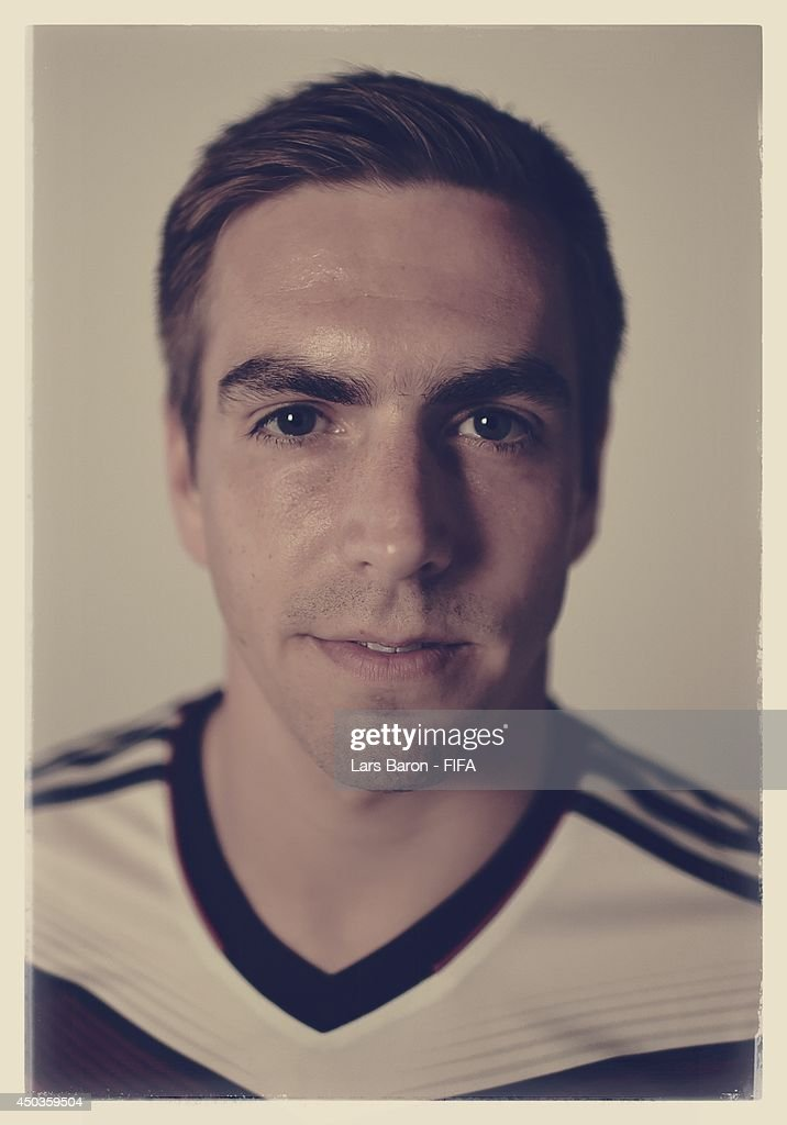 Philipp Lahm of Germany poses during the official FIFA World Cup 2014 portrait session on June 8, 2014 in Salvador, Brazil.