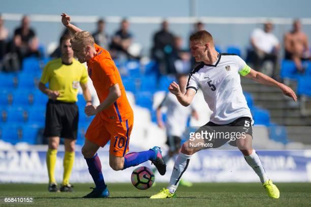 Philipp Lienhart Pelle Van Amersfoot during the friendly match of national teams U21 of Austria vs The Netherlands in Pinatar Arena Murcia SPAIN...