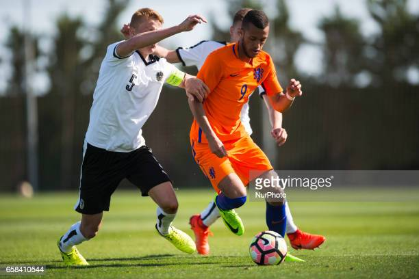 Philipp Lienhart Sam Lammers during the friendly match of national teams U21 of Austria vs The Netherlands in Pinatar Arena Murcia SPAIN March 27th...