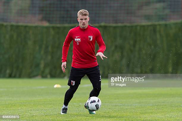 Philipp Max of FC Augsburg in action during the seven day of the training camp in Marbella on January 10 2017 in Marbella Spain Photo by...