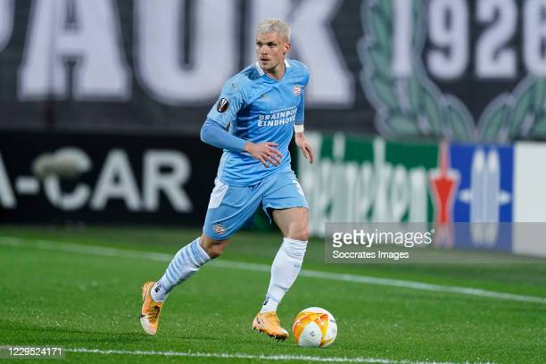 Philipp Max of PSV during the UEFA Europa League match between PAOK Saloniki v PSV at the Toumba Stadium on November 5, 2020 in Thessaloniki Greece