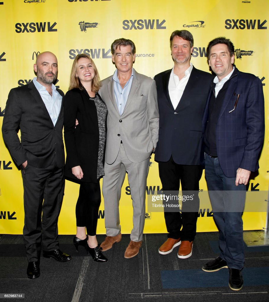 Philipp Meyer, Jenna Santoianni, Pierce Brosnan, Kevin Murphy and Tom Lesinski attend AMC's 'The Son' premiere and panel with Pierce Brosnan, Philipp Meyer, Kevin Murphy on March 12, 2017 in Austin, Texas.
