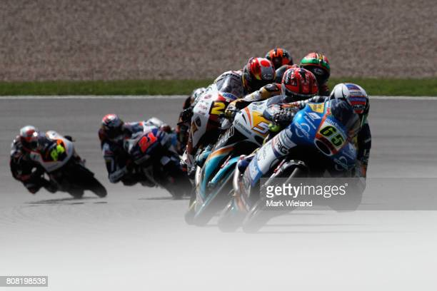 Philipp Oettl of Germany and Sudmetall Schedl GP Racing Team in action during the MotoGP of Germany at Sachsenring Circuit on July 2 2017 in...