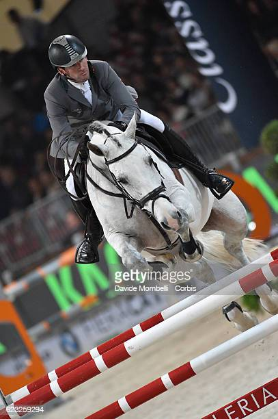 Philipp of Germany rides Carvagio Z during the FEI Longines CSI5* World Cup Small Tour By BMW Jumping Verona 2016 on November 10 2016 in Verona Italy