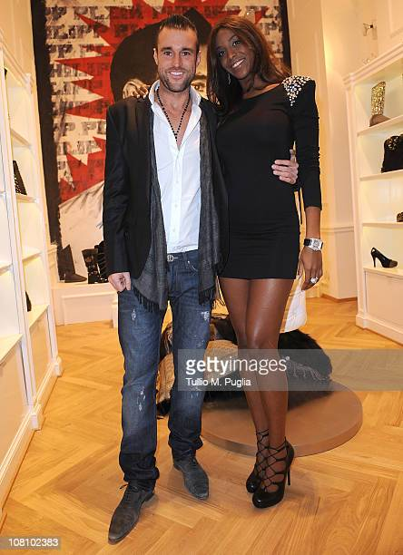 Philipp Plein and Ainett Stephens attend Philipp Plein new collection presentation during Milan Fashion Week Menswear A/W 2001 on January 17 2011 in...