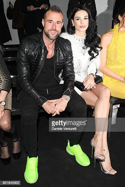 Philipp Plein and Andreea Sasu attend the Billionaire show during Milan Men's Fashion Week Fall/Winter 2017/18 on January 16 2017 in Milan Italy