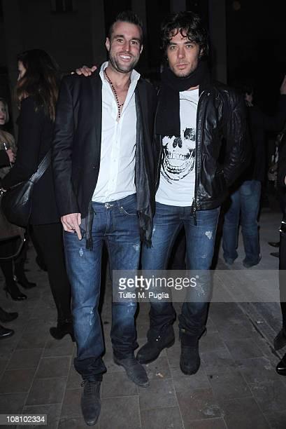 Philipp Plein and Daniele Santoianni attend Philipp Plein new collection presentation during Milan Fashion Week Menswear A/W 2001 on January 17 2011...